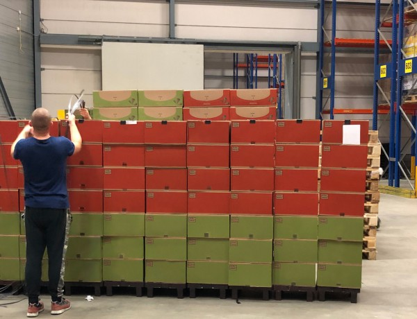 Opgelost: duizenden pallets in no-time omgepakt